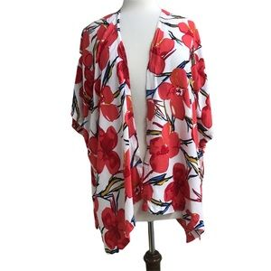 Do Everything in Love red floral kimono one size